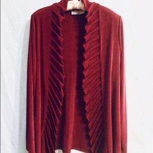 ⬇️$36👏🍁CHICOS🍁Just In Travelers Burgundy Tunic